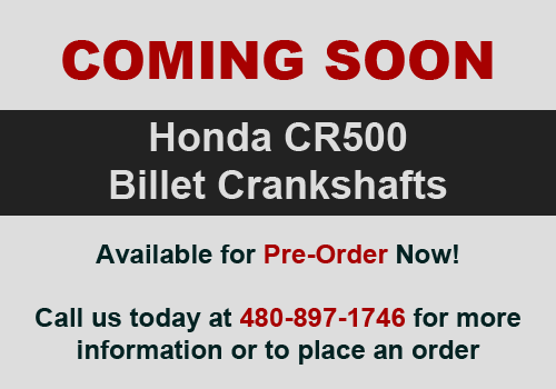 Coming Soon - Billet CR500 Cranks