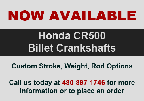 Now Available - Billet CR500 Cranks