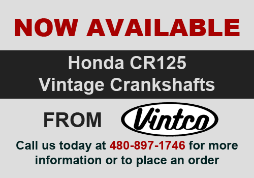 Now Available - Honda CR125 Vintage Cranks by Vintco